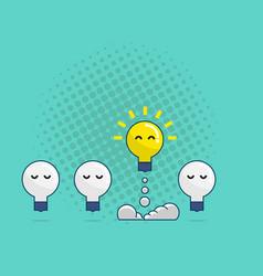 bulb with idea flying and bulb no idea vector image