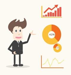 businessman presentation vector image