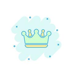 Cartoon crown diadem icon in comic style royalty vector