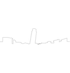 Continous line skyline of pisa vector