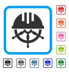 covered steering wheel framed icon vector image