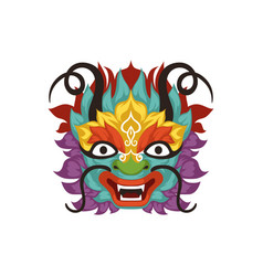 Dragon head chinese traditional boat festival vector