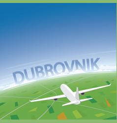 Dubrovnik flight destination vector