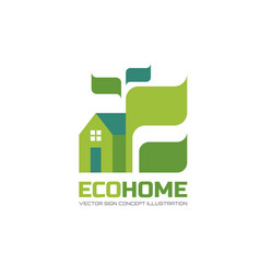 eco home - logo template in flat style vector image
