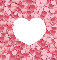 Empty White Hearts and Petals vector image