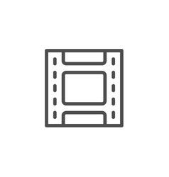 Film strip line icon vector