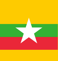 flag myanmar vector image