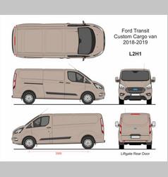 Ford transit custom cargo van l2h1 2018-2019 vector
