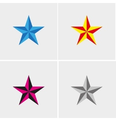 Four stars set vector