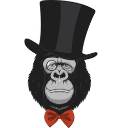 Funny monkey in a hat vector