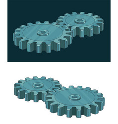 Gears color vector