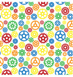 Gears icons seamless pattern background vector