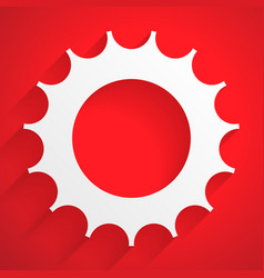 Gearwheel backdrop editable with transparent vector