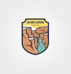 grand canyon national park emblem logo sticker vector image