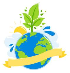 green earth ecology concept vector image