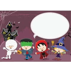 Halloween Message vector image