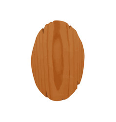 handcrafted oval wooden signboard with place vector image