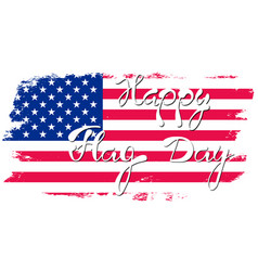 happy flag day background vector image