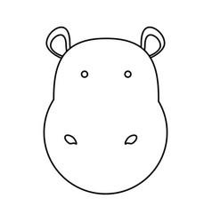 Hippopotamus face vector