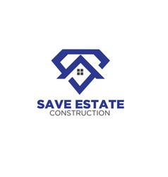 Home care logo designs for real estate service vector