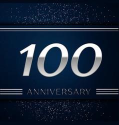 Hundred years anniversary celebration logotype vector