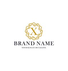 Initial letter x luxury ornament logo design vector