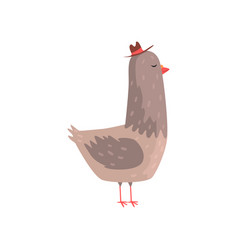 intelligent dove character in hipster hat vector image