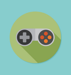 joystick flat icon with long shadow eps10 vector image