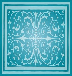 Light Blue Floral Luxury Ornamental Pattern vector image