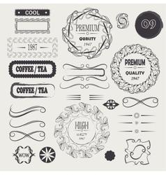 logo vintage and frames design elements vector image