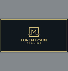 m elegance logo vector image