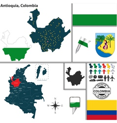 Map antioquia vector
