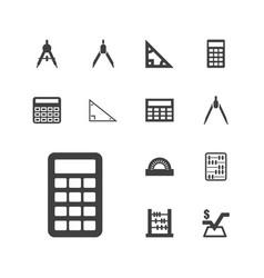 Mathematics icons vector