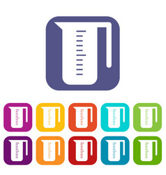 measuring cup icons set vector image