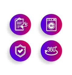 Megaphone checklist confirmed and dryer machine vector