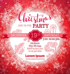 Merry Christmas party background vector