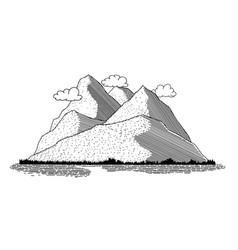 mountain scene icon vector image