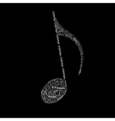 music of a music note sign made of different fonts vector image