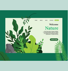 nature landing page template template design vector image