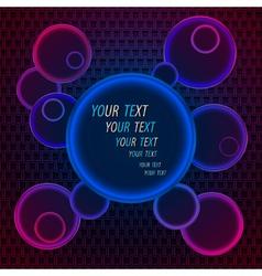 Neon disco background vector image