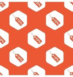 Orange hexagon discount pattern vector image