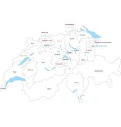 Outline Switzerland map vector image