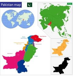 Pakistan map vector