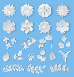paper flowers floral wedding decoration or vector image