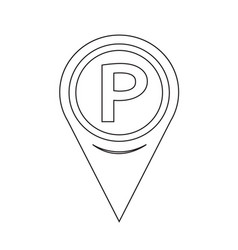 parking icon map pointer vector image