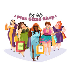 plump women big sale vector image