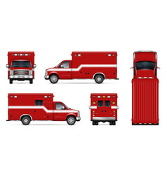realistic fire engine vector image