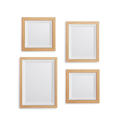Realistic photo frame set collection of vector