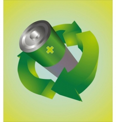 Recycle battery vector