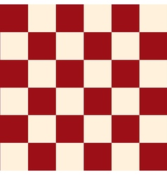 Red Cream Chess Board Background vector